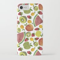 fruits iPhone & iPod Cases featuring fruits by Ana Rey
