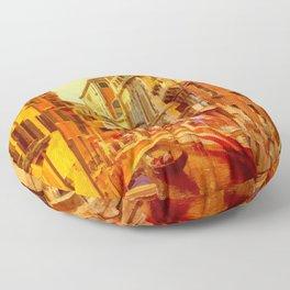 Golden Venice Canal Floor Pillow