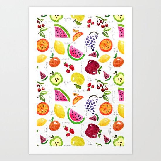 Fruit Salad Yummy Yummy Art Print