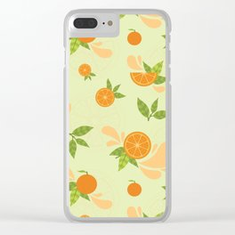 Orange Slice Clear iPhone Case