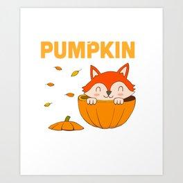 ae738240d8d95 Little Pumpkin Pregnancy Announcement Halloween Art Print