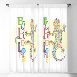 Barcelona City Lizard Blackout Curtain