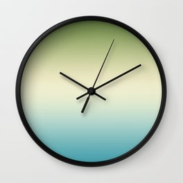Gradient. Turquoise, yellow, green. Ombre, Wall Clock