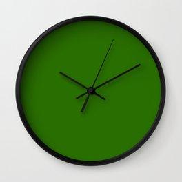 Metallic Green - solid color Wall Clock