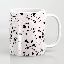 'Speckle Party' Blush Pink Black White Dots Speckle Terrazzo Pattern Coffee Mug
