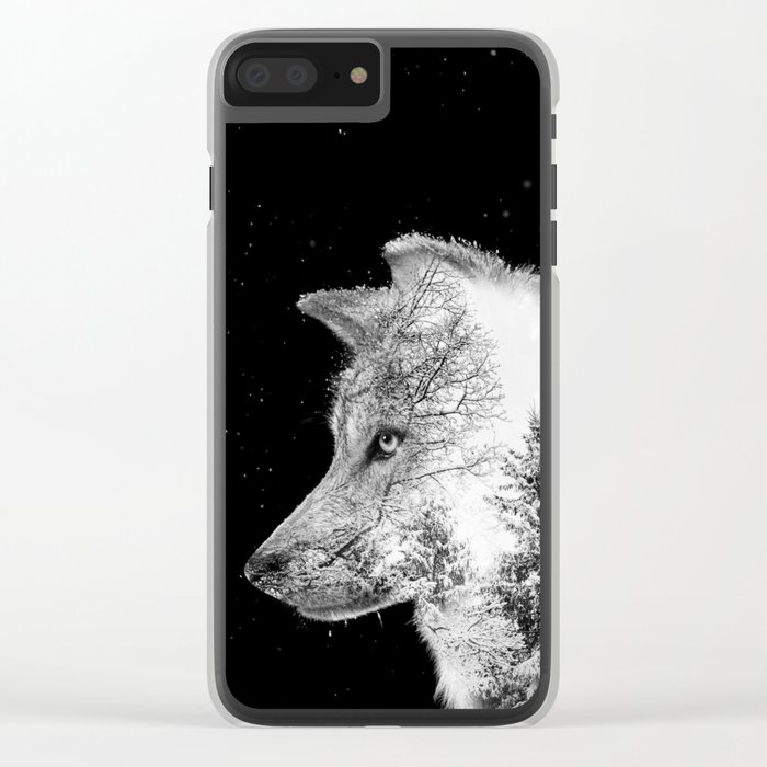 Winter Wolf Clear iPhone Case