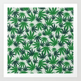 420 Cannabis mary jane Weed Pattern Gift Art Print