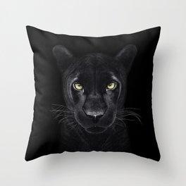 Black Panther on black Throw Pillow