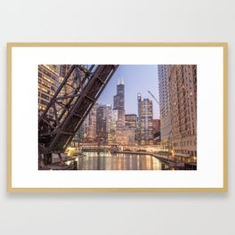 Kinzie St. Railroad Bridge Framed Art Print