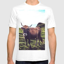 Cow in the Alps, Mountains T-shirt