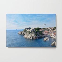 Taking Flight over Dubrovnik Metal Print