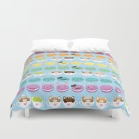 cafe Duvet Covers featuring Cute Cafe by Inappropriately Adorable