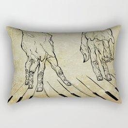 Hand of the pianist Rectangular Pillow