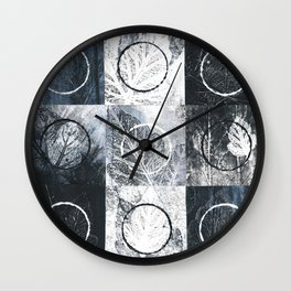 Nature And Geometry Wall Clock
