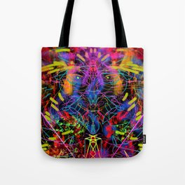 Blowing Fire Tote Bag
