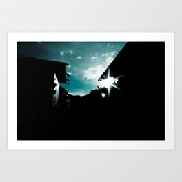 Blue in China Art Print