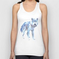 low poly Tank Tops featuring Low Poly Wolf by idrux