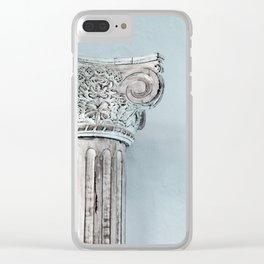 Corinthian capital Clear iPhone Case