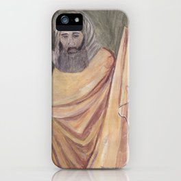 Reproduction of a Section of The Trial By Fire Fresco by Giotto iPhone Case