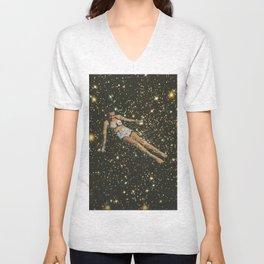 Bathing in the universe Unisex V-Neck