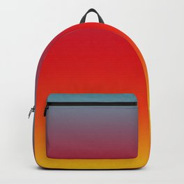 Aruba - Classic Colorful Blue Red Yellow Abstract Minimal Modern Summer Style Color Gradient Backpack