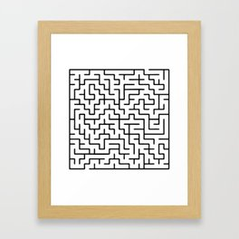 Labyrinth Framed Art Print