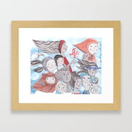 Breezy Parade Framed Art Print