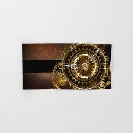 Steampunk Clock with Gears Hand & Bath Towel
