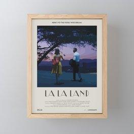 La La Land (2016) Minimalist Poster Framed Mini Art Print