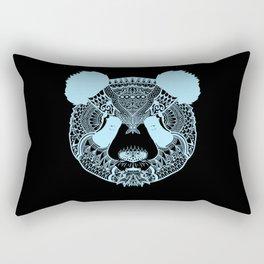 Mystic Panda Bear Face in Light Blue Rectangular Pillow
