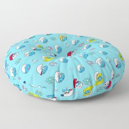 Smurfs Pattern Floor Pillow