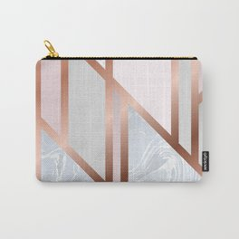 White Pastel Art Deco Carry-All Pouch
