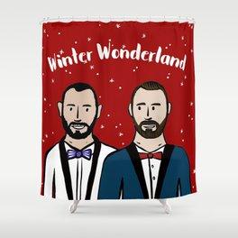 Beard Boy: Winter Wonderland Shower Curtain