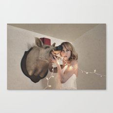 Boar-ing Party Canvas Print
