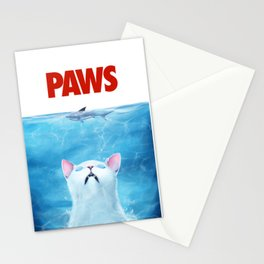 PAWS Cat Stationery Cards