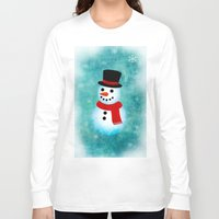 snowman Long Sleeve T-shirts featuring snowman by vitamin
