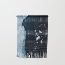 Silent Ice Bergs from above Wall Hanging