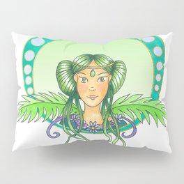 Green lady - Art Nouveau Style Pillow Sham