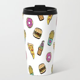 Fast Food Heaven Illustrated Pattern Travel Mug