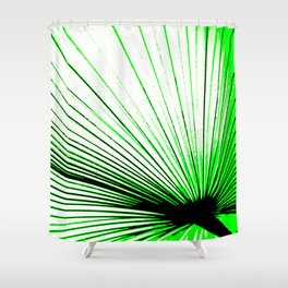 Vibrant, Bold Green Shower Curtain