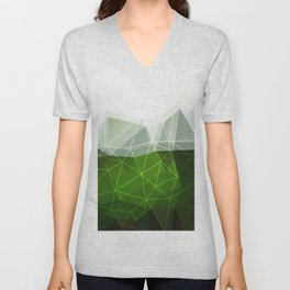 Green abstract background Unisex V-Neck