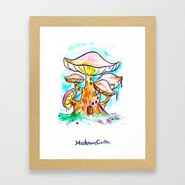 Mushroom Castle Framed Art Print