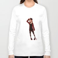 selfie Long Sleeve T-shirts featuring Selfie by Lenore2411