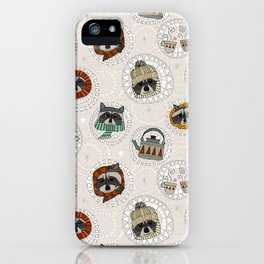 hygge raccoons iPhone Case