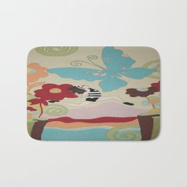 Leap of Faith - painting - Wild Veda Bath Mat