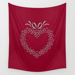 Heart Stencil Wall Tapestry