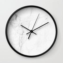 White Marble Print II Wall Clock
