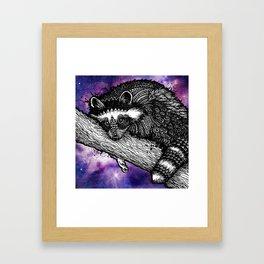 Galaxy Raccoon Framed Art Print