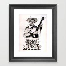 Gene Autry Framed Art Print