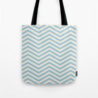 chevron Tote Bags featuring Chevron by Patterns and Textures